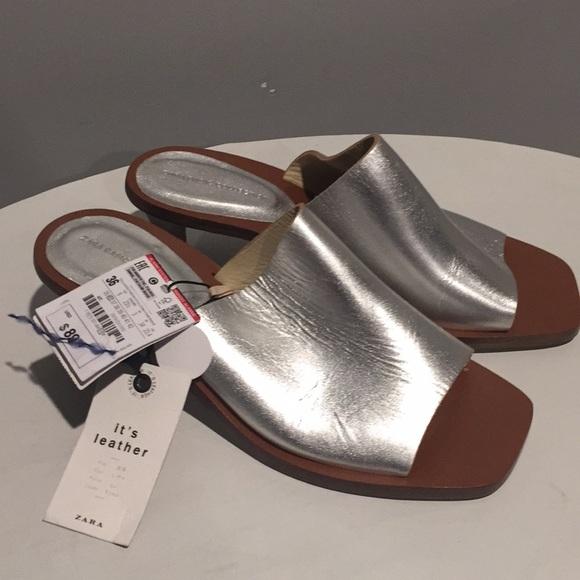 3e5566f4fa53 SALE Zara silver sandals